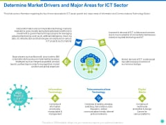 Determine Market Drivers And Major Areas For ICT Sector Ppt Model Inspiration PDF