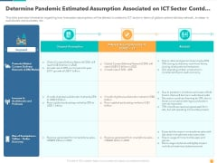 Determine Pandemic Estimated Assumption Associated On ICT Sector Contd Graphics PDF