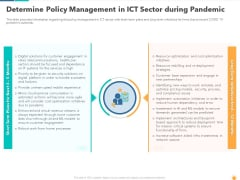 Determine Policy Management In ICT Sector During Pandemic Template PDF
