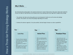 Determine Right Pricing Strategy New Product How A Three Tier Pricing Strategy Works Template PDF