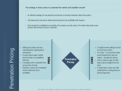 Determine Right Pricing Strategy New Product Penetration Pricing Ppt Professional Rules PDF