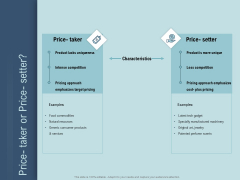 Determine Right Pricing Strategy New Product Price Taker Or Price Setter Sample PDF