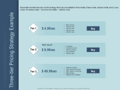 Determine Right Pricing Strategy New Product Three Tier Pricing Strategy Example Mockup PDF