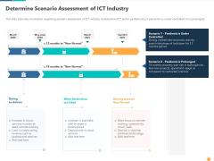 Determine Scenario Assessment Of ICT Industry Pictures PDF