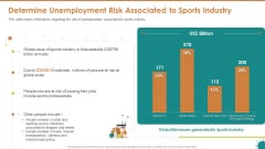 Determine Unemployment Risk Associated To Sports Industry Pictures PDF