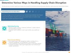 Determine Various Ways In Handling Supply Chain Disruption Demonstration PDF