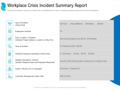 Determining Crisis Management BCP Workplace Crisis Incident Summary Report Rules PDF