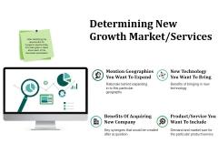 Determining New Growth Market Services Ppt PowerPoint Presentation Designs
