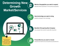 Determining New Growth Market Services Ppt PowerPoint Presentation Layouts Clipart Images