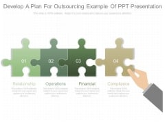 Develop A Plan For Outsourcing Example Of Ppt Presentation