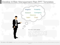 Develop A Risk Management Plan Ppt Templates