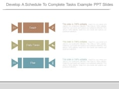 Develop A Schedule To Complete Tasks Example Ppt Slides