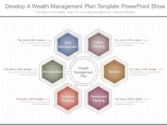 Develop A Wealth Management Plan Template Powerpoint Show
