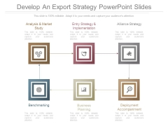 Develop An Export Strategy Powerpoint Slides