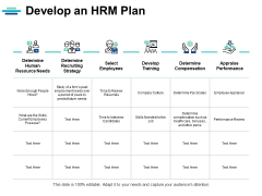 Develop An Hrm Plan Ppt PowerPoint Presentation Summary Graphics Example