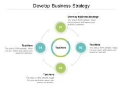 Develop Business Strategy Ppt PowerPoint Presentation Gallery Graphics Template Cpb
