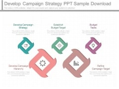 Develop Campaign Strategy Ppt Sample Download