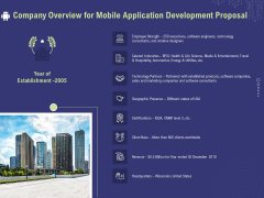 Develop Cellphone Apps Company Overview For Mobile Application Development Proposal Information PDF