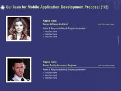 Develop Cellphone Apps Our Team For Mobile Application Development Proposal Quality Formats PDF