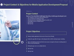 Develop Cellphone Apps Project Context And Objectives For Mobile Application Development Proposal Clipart PDF