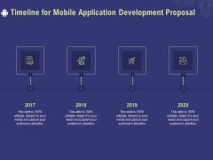 Develop Cellphone Apps Timeline For Mobile Application Development Proposal Ppt PowerPoint Presentation Outline Outfit PDF