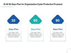 Develop Corporate Cyber Security Risk Mitigation 30 60 90 Days Plan For Organization Cyber Protection Proposal Mockup PDF