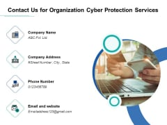 Develop Corporate Cyber Security Risk Mitigation Plan Contact Us For Organization Cyber Protection Services Portrait PDF