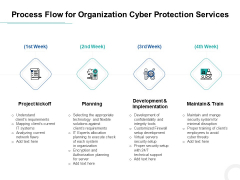 Develop Corporate Cyber Security Risk Mitigation Plan Process Flow For Organization Cyber Protection Services Background PDF