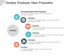 Develop Employee Value Proposition Ppt PowerPoint Presentation Outline Graphics Template Cpb