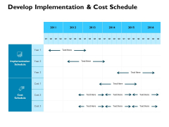 Develop Implementation And Cost Schedule Ppt PowerPoint Presentation Summary Influencers