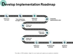 Develop Implementation Roadmap Ppt PowerPoint Presentation Layouts Icons