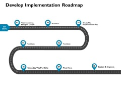 Develop Implementation Roadmap Ppt PowerPoint Presentation Summary Designs