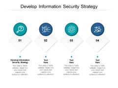 Develop Information Security Strategy Ppt PowerPoint Presentation Portfolio Information Cpb