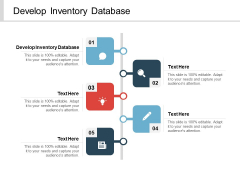 Develop Inventory Database Ppt PowerPoint Presentation Icon Graphics Download Cpb
