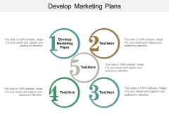 Develop Marketing Plans Ppt PowerPoint Presentation Show Format Ideas Cpb