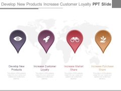 Develop New Products Increase Customer Loyalty Ppt Slide