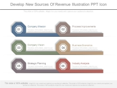 Develop New Sources Of Revenue Illustration Ppt Icon