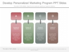 Develop Personalized Marketing Program Ppt Slides