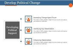 Develop Political Change Template 3 Ppt PowerPoint Presentation Shapes