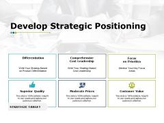Develop Strategic Positioning Ppt PowerPoint Presentation Infographics Microsoft