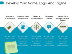 Develop Your Name Logo And Tagline Ppt PowerPoint Presentation File Files