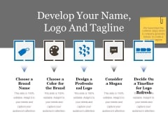 Develop Your Name Logo And Tagline Ppt PowerPoint Presentation Gallery Elements