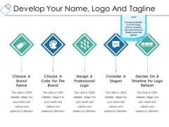 Develop Your Name Logo And Tagline Ppt PowerPoint Presentation Pictures Sample
