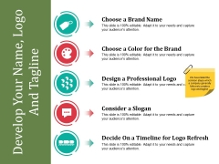 Develop Your Name Logo And Tagline Ppt PowerPoint Presentation Professional Summary