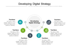 Developing A Digital Strategy Ppt PowerPoint Presentation Summary Mockup Cpb