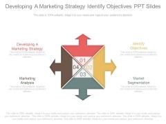 Developing A Marketing Strategy Identify Objectives Ppt Slides