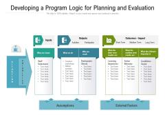 Developing A Program Logic For Planning And Evaluation Ppt PowerPoint Presentation File Slide Portrait PDF