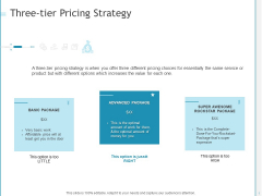 Developing A Right Pricing Strategy For Business Three Tier Pricing Strategy Information PDF