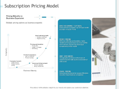 Developing A Right Strategy For Business Subscription Pricing Model Ppt Portfolio Smartart PDF
