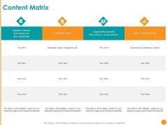 Developing A Strategic Marketing Plan Content Matrix Format Ppt File Themes PDF